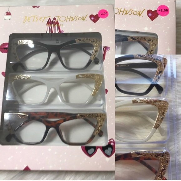 16b336062789 Betsey Johnson Accessories - NEW Betsey Johnson Reading Glasses +2.00